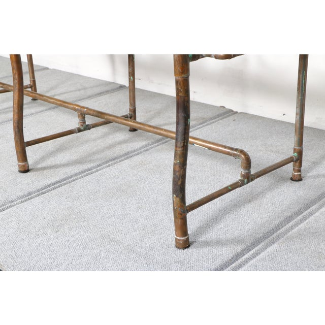 Modern Copper Pipe Bench - Image 11 of 11