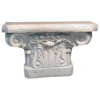 BEAUTIFUL MODERN NEOCLASSICAL WHITE COLUMN FORM CONSOLE TABLE