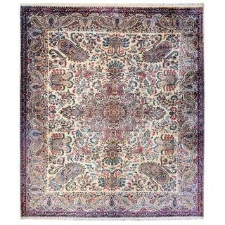 Early 20th Century Persian Kirman Rug - 9′ × 11′