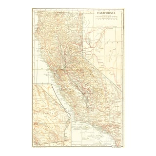 Vintage Map of California, 1928