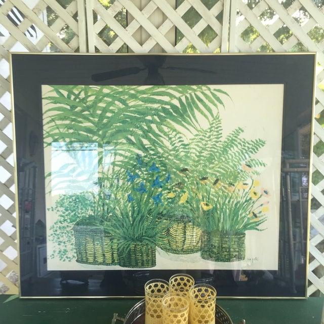 1970's Palm Beach Regency Artist Ida Pellei Botanical Gallery Framed Art - Image 3 of 11
