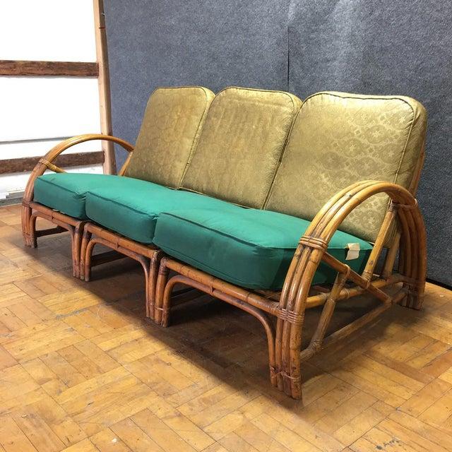 Vintage Bamboo Art Deco Modular Sofa Chairish