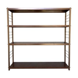 McCobb Style Metal Wood-Look Book Shelving