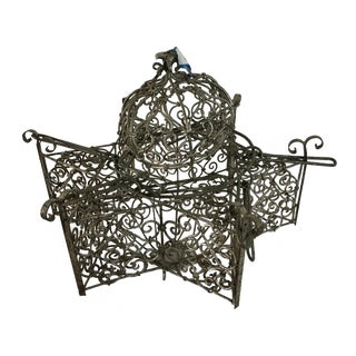 Authentic Vintage Moroccan Wrought Iron Lantern/Pendant