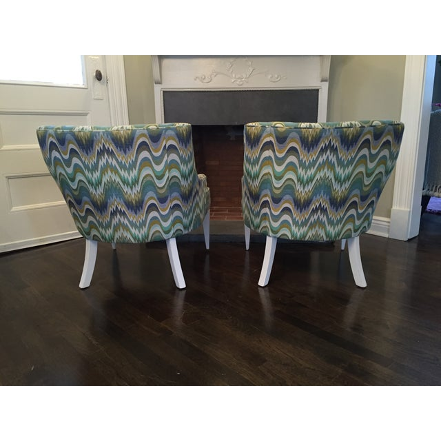 Jonathan Adler Haines Chairs - A Pair - Image 8 of 11