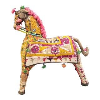 Indian Folk Art Embroidered Shisha Horse