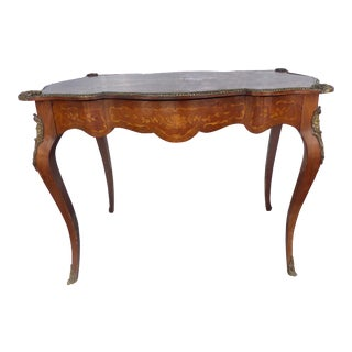 19th Century, French Rosewood One-Drawer Side Table/Writing Desk
