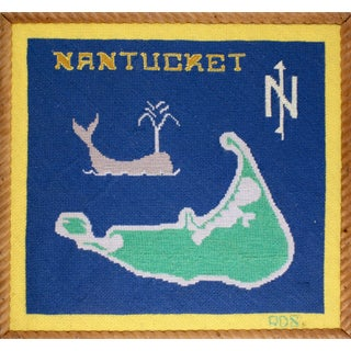 """Nantucket Needlepoint Map"""