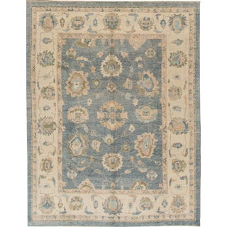 Turkish Oushak Hand-Knotted Rug - 8' x 10'4""