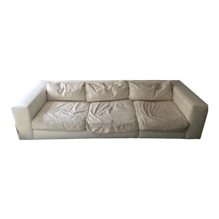Leather White Standard Sofa