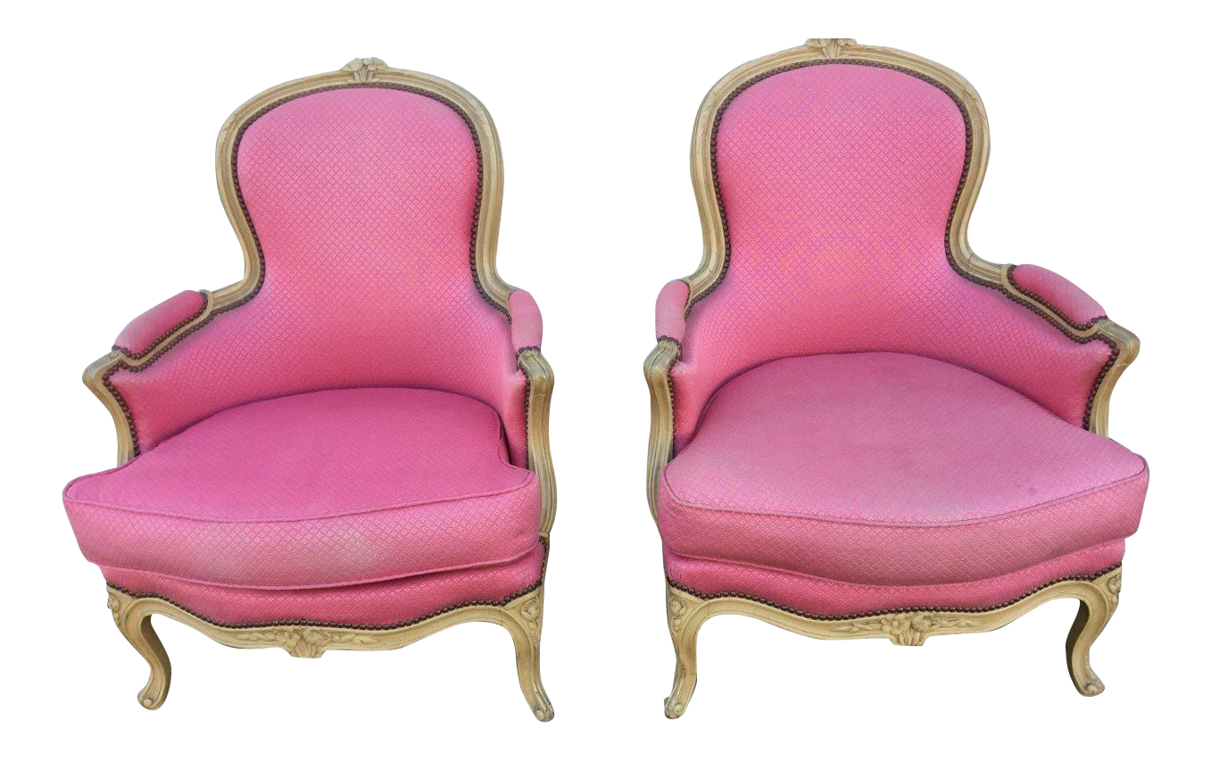 vintage french bergere chairs a pair