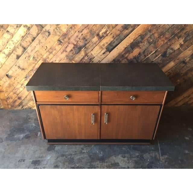 Mid Century Transforming Cocktail Bar Cabinet - Image 4 of 6