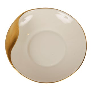 Gold Accent China Dish