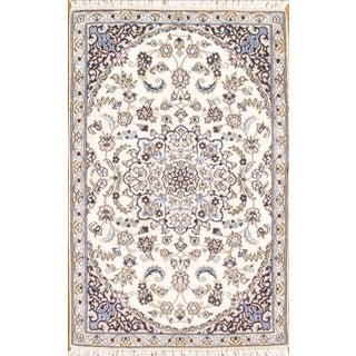 "Persian Nain Silk & Wool Rug - 2'9"" X 4'7"""