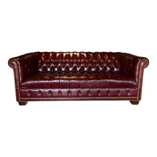 3-Seater Leather Chesterfield Sofa