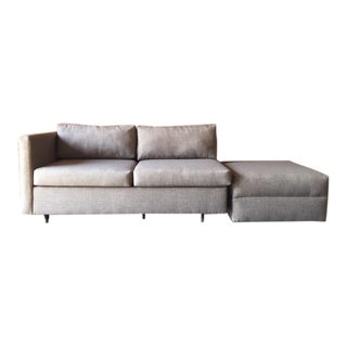 Vintage Sectional Loveseat With Ottoman