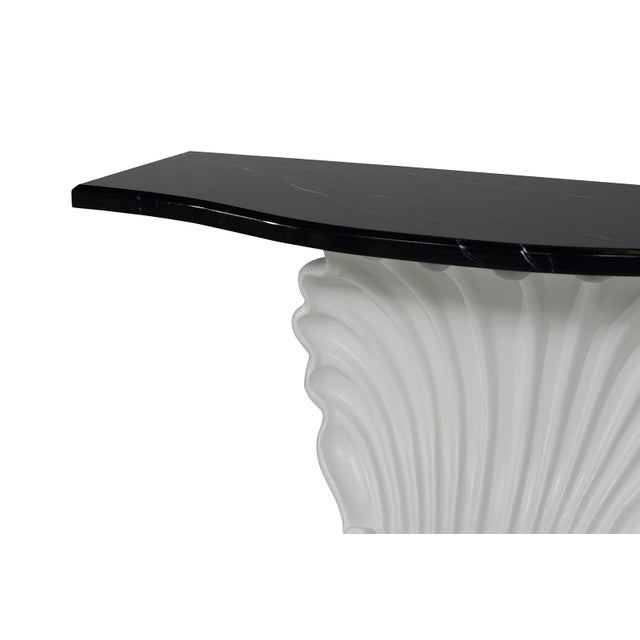 Black & White Shell Console Table - Image 5 of 6