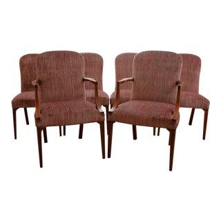 Vintage Upholstered Kittinger Dining Chairs - Set of 6