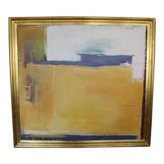 Framed Abstract Oil Painting