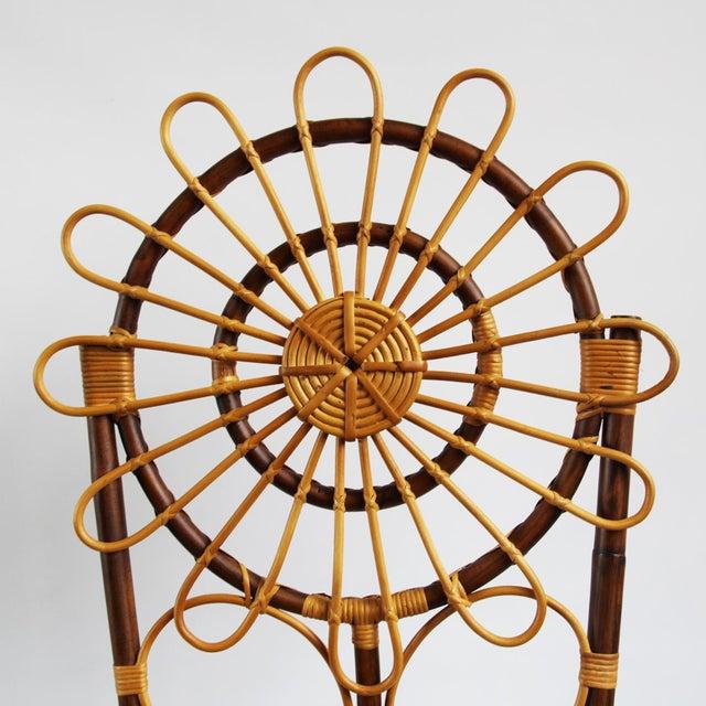 Tall Bamboo Sun Flower Chair - Image 4 of 8