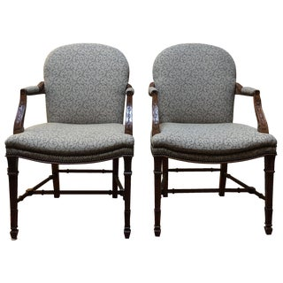 Baker Furniture Vintage-Style Armchairs - A Pair
