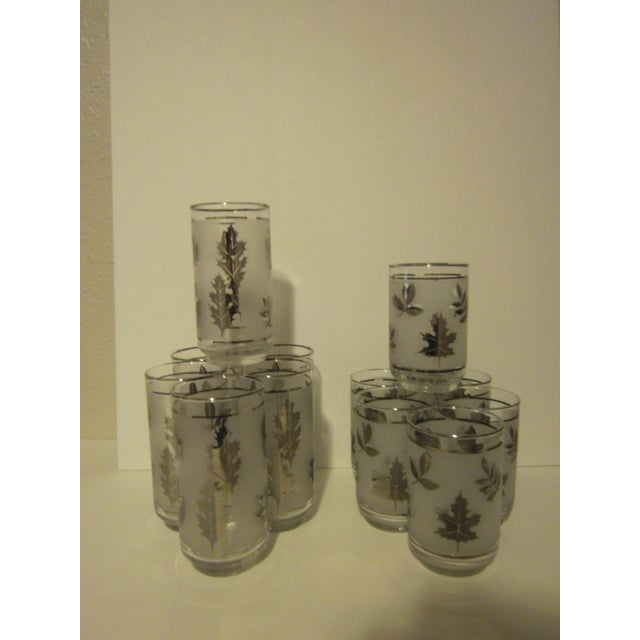 Platnium Leaf Pattern Barware - Set of 12 - Image 3 of 7