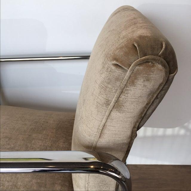 Vintage Acardia Chrome & Velvet Chairs - A Pair - Image 5 of 7