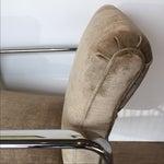 Image of Vintage Acardia Chrome & Velvet Chairs - A Pair