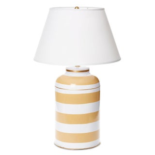 Striped Tea Caddy Lamp