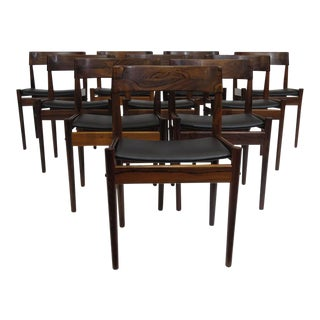 Grete Jalk for P. Jeppesens Rosewood Danish Dining Chairs