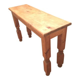 Spanish Style Wood Console Table