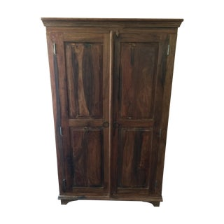 Handcrafted Rustic Wood Armoire