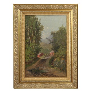 Landscape Painting of a Wooded Landscape by William Raphael