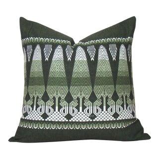 Vintage Guatemalan Quetzalcoatl Green Pillow Cover