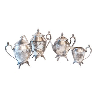 Antique Silver Plate Greek Revival Coffee Service
