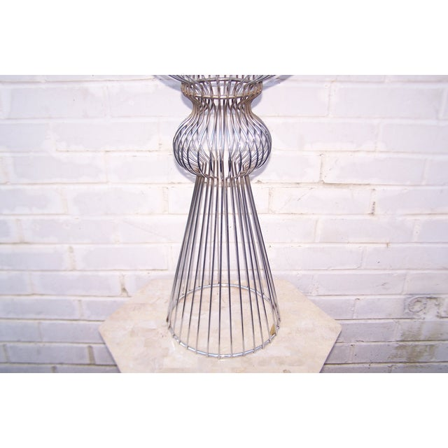 Vintage 1960s Steel Wire Sculptural Plant Stand - Image 6 of 9