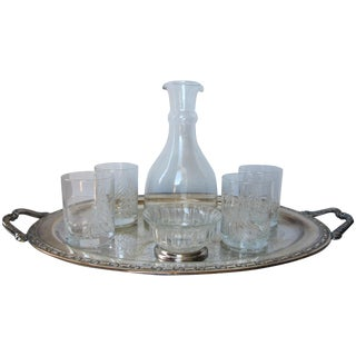 Winter Entertainment Silverplate and Glass Set