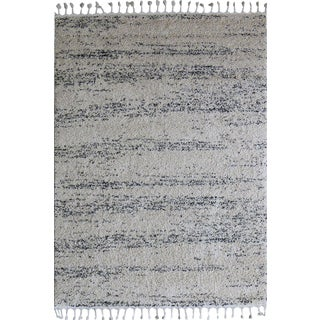 Abstract Ivory & Gray Rug - 5'3'' X 7'7''