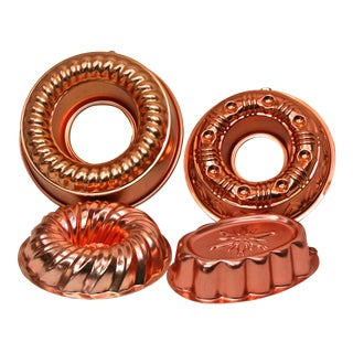 Copper Molds & Bundt Pans - Set of 4