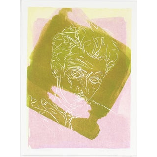 """Egon Schiele"" Pink & Green Print by Rob Delamater"