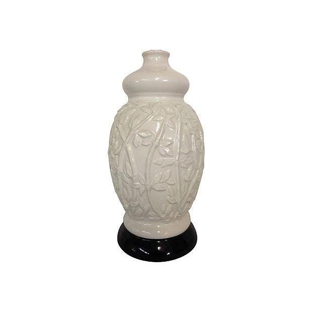 1960s Faux-Bamboo Ceramic Lamps - Pair - Image 2 of 5