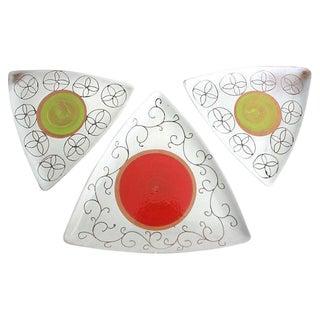Mid-Century Pottery Platters - Set of 3