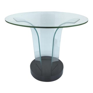 Mid-Century Modern Modernage Bent Glass Side Table