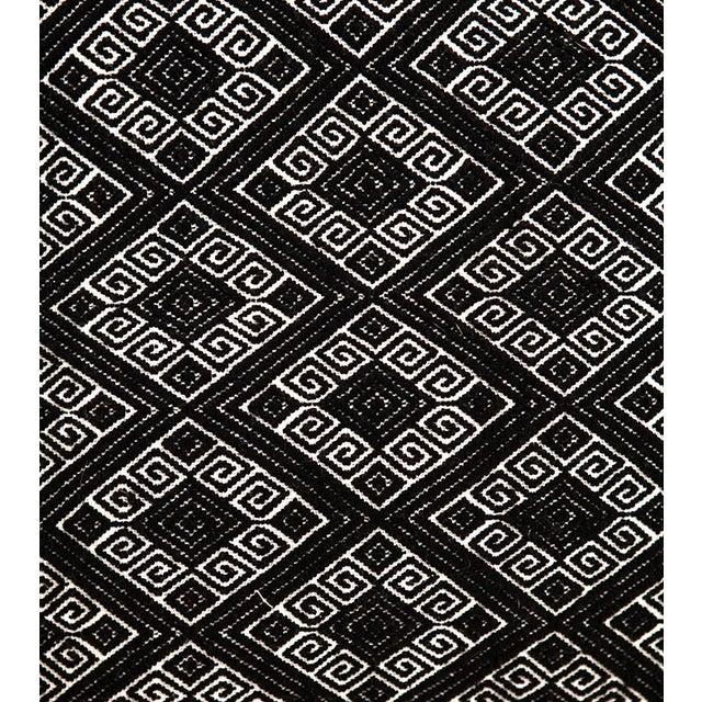 Image of Black Diamonds Handwoven Pillow