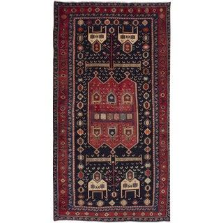 "4'7"" x 8'11"" Zanjan Vintage Persian Rug"