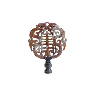 Asian Dragon Stone Lamp Finial