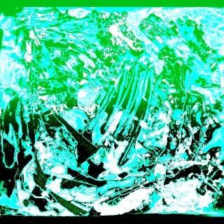 Arctic Ice Blue, Green & Black Print by Suga Lane