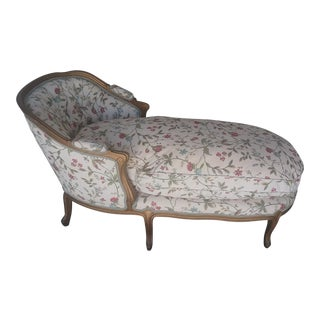 Vintage Louis XV Style French Country Chaise Lounge