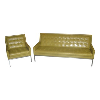 Thayer Coggin Yellow Sofa Set & Chair