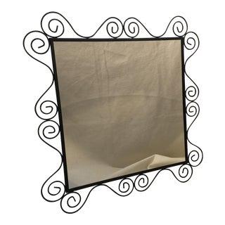 Metal Spiral Embellished Mirror